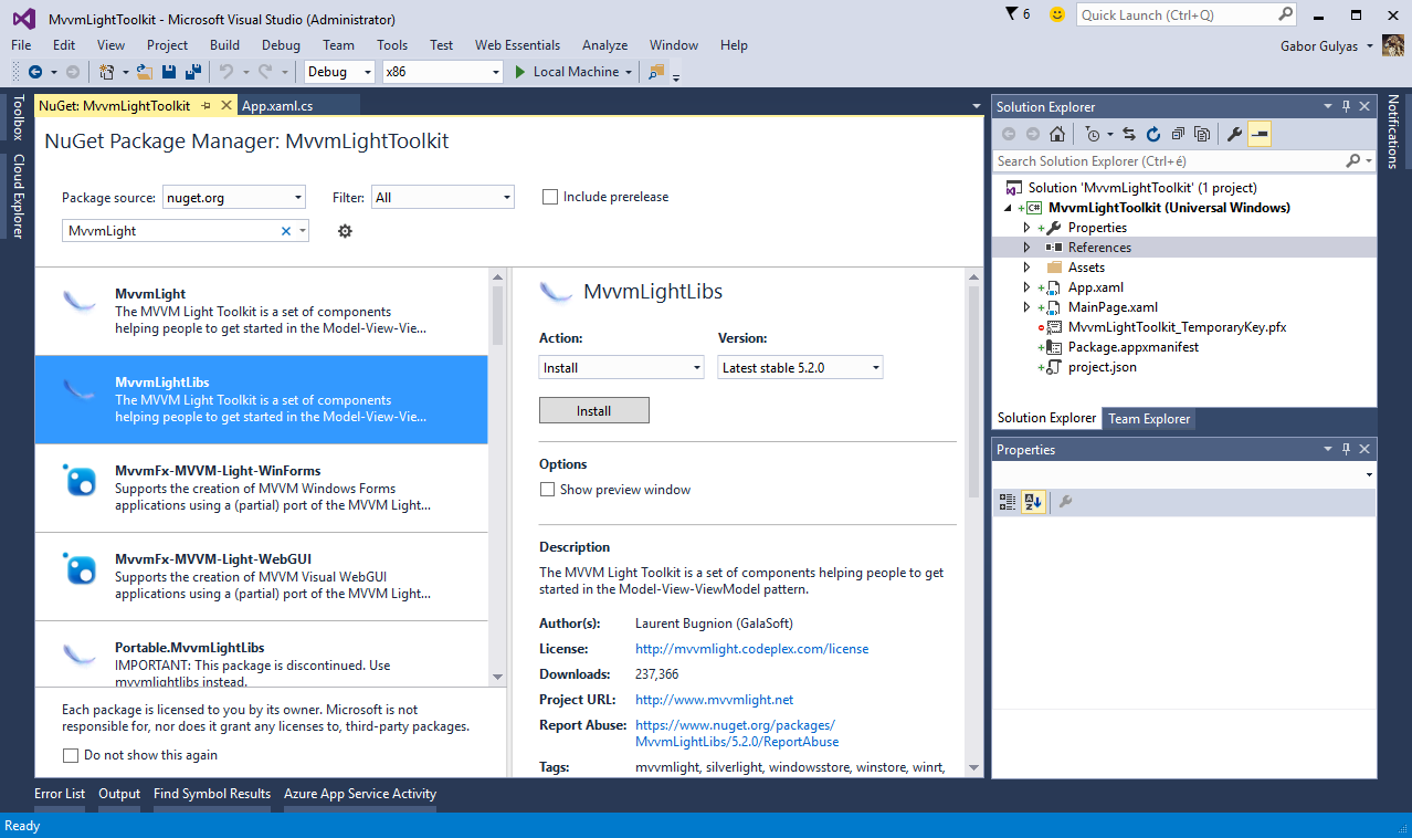 MVVM Light Toolkit - NuGet Package